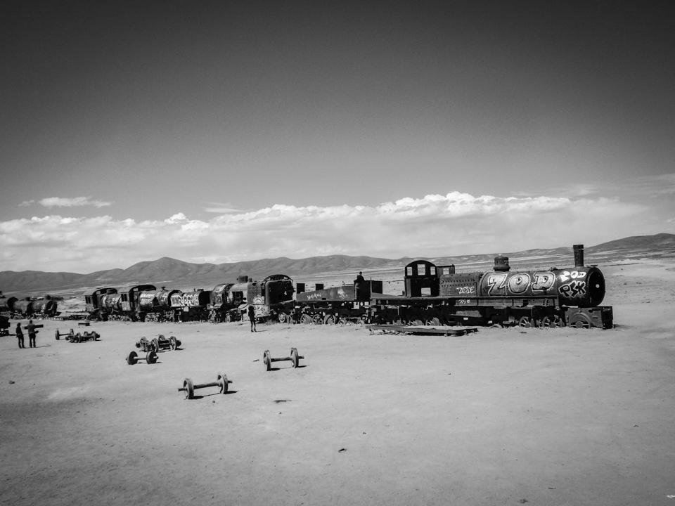 Alter Zug in der Wüste